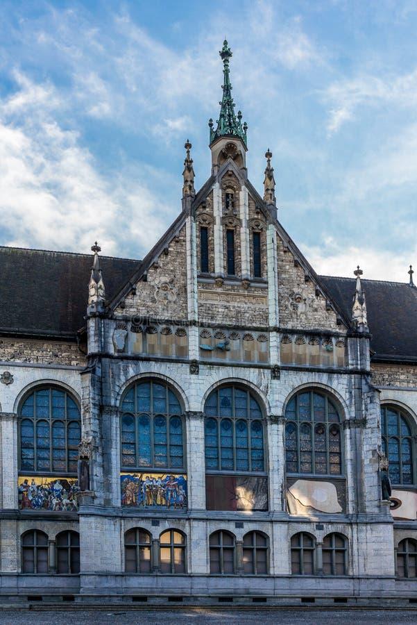 Mening van Landesmuseum in Zürich stock afbeelding