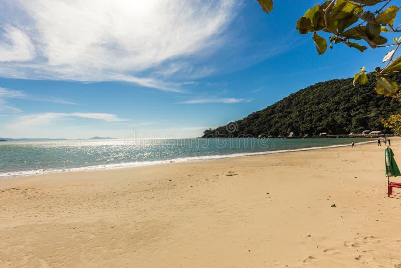 Mening van Laranjeiras-Strand, Balneario Camboriu Santa Catarina royalty-vrije stock fotografie