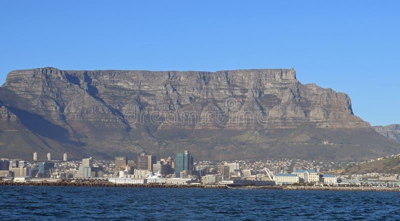 Mening van Lijstberg en Cape Town royalty-vrije stock foto