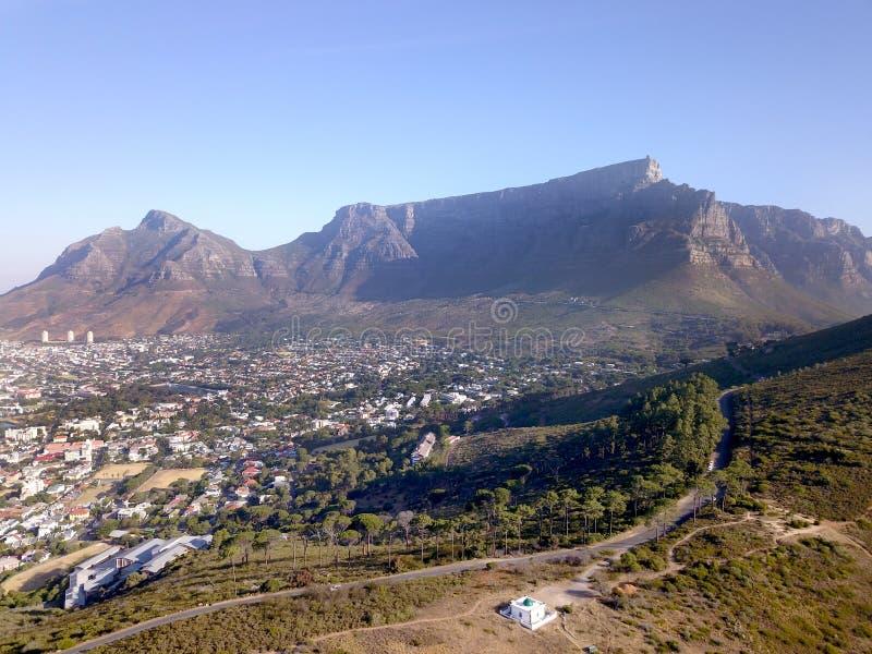 Mening van lijstberg, Kaapstad royalty-vrije stock afbeeldingen