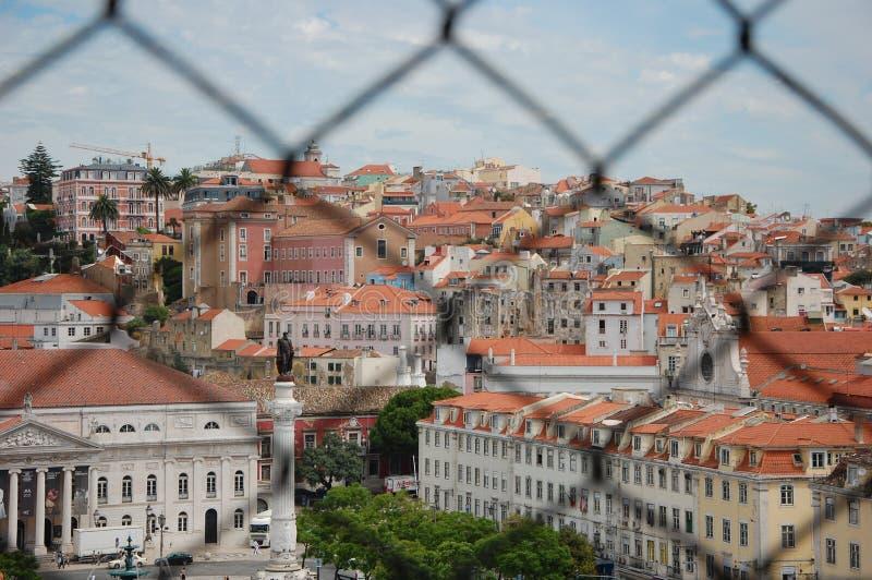 Mening van Lissabon vanaf de bovenkant royalty-vrije stock fotografie