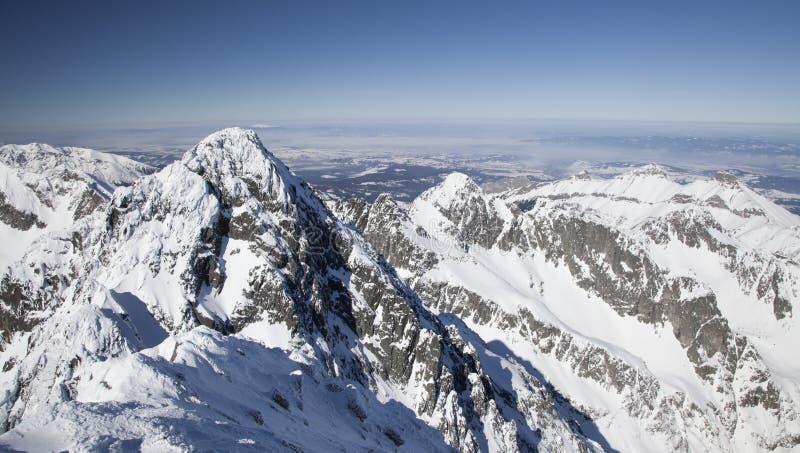 Mening van Lomnicky stit - piek in Hoge Tatras royalty-vrije stock foto