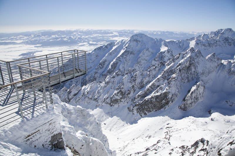 Mening van Lomnicky stit - piek in Hoge Tatras stock afbeeldingen