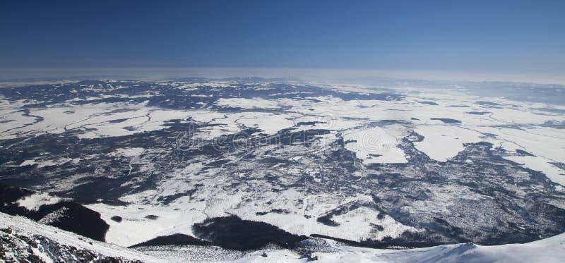 Mening van Lomnicky stit - piek in Hoge Tatras stock foto