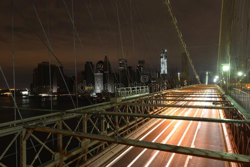 Mening van Lower Manhattan na stroomuitval. royalty-vrije stock afbeelding