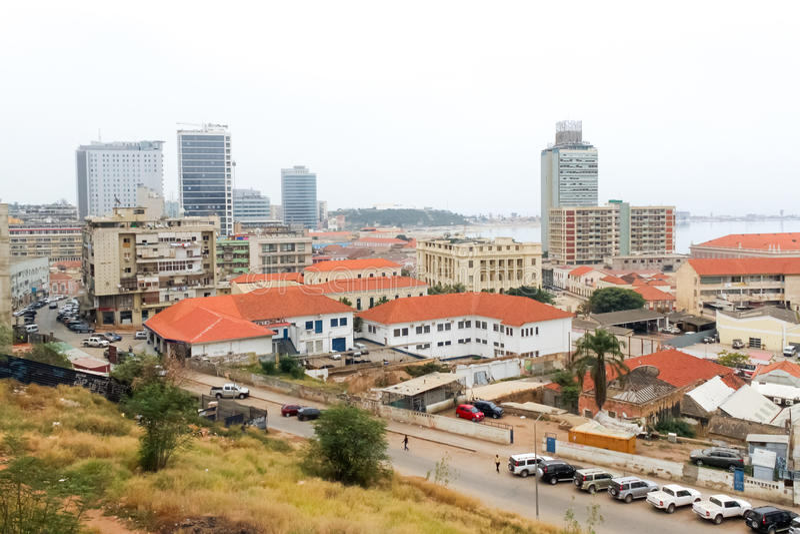 Mening van Luanda, Angola stock afbeeldingen