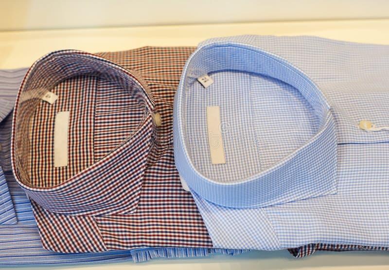 Mening van mannelijke overhemden stock foto