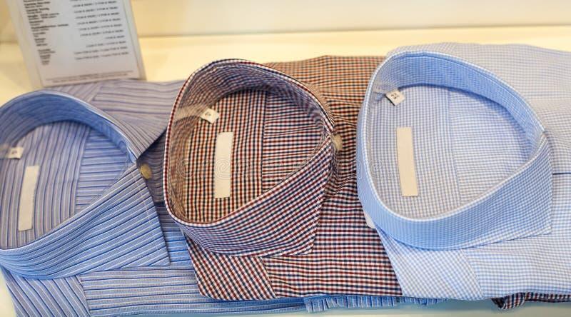 Mening van mannelijke overhemden royalty-vrije stock afbeelding