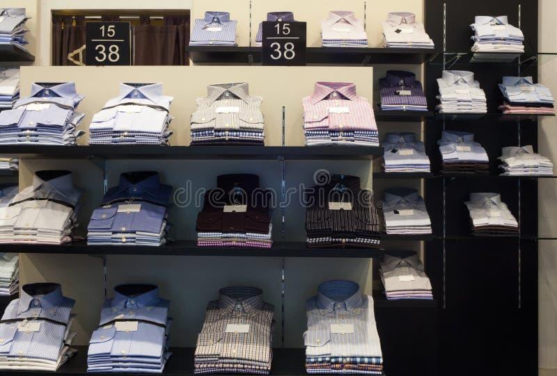 Mening van mannelijke overhemden stock foto's