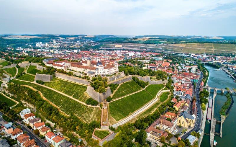 Mening van Marienberg-Vesting in Wurzburg, Duitsland royalty-vrije stock foto
