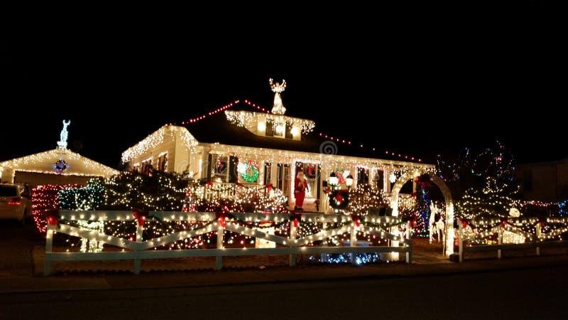 Mening van maryvilletn beste Kerstmislichten stock afbeelding