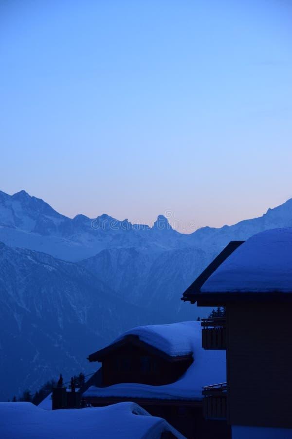 Mening van Matterhorn stock afbeelding