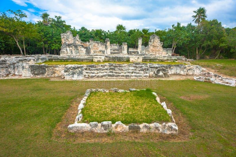 Mening van Mayan Ruïnes van Gr Rey stock fotografie