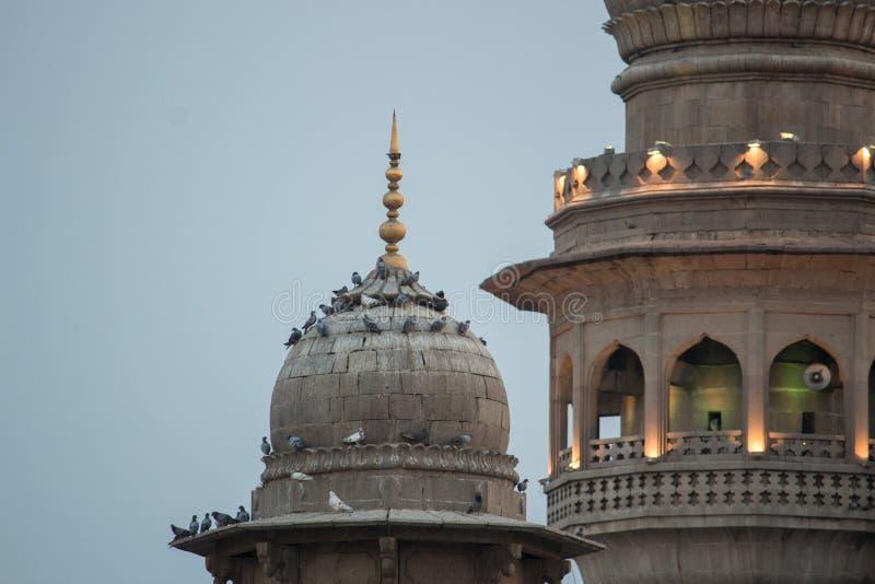 Mening van Mecca Masjid Mosque, Hyderabad stock foto's