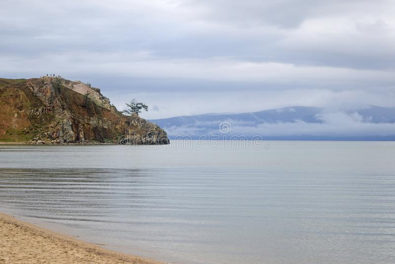 Mening van Meer Baikal royalty-vrije stock fotografie