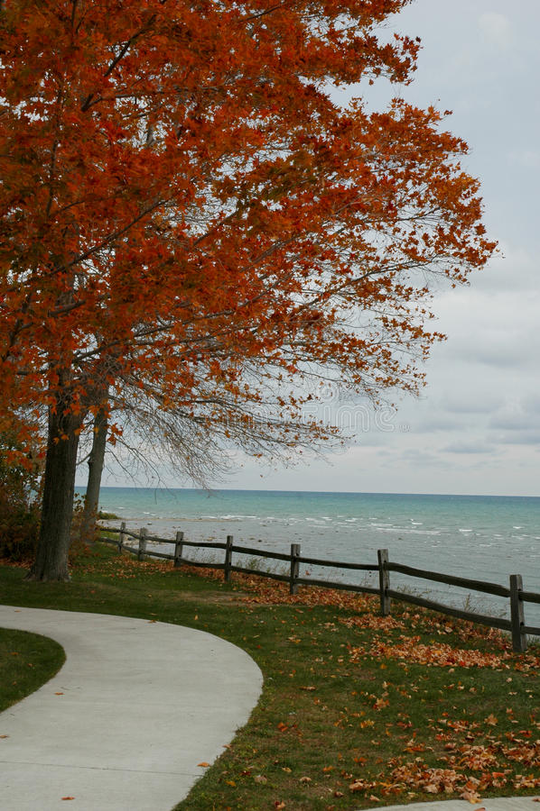 Mening van Meer Huron Michigan royalty-vrije stock foto's