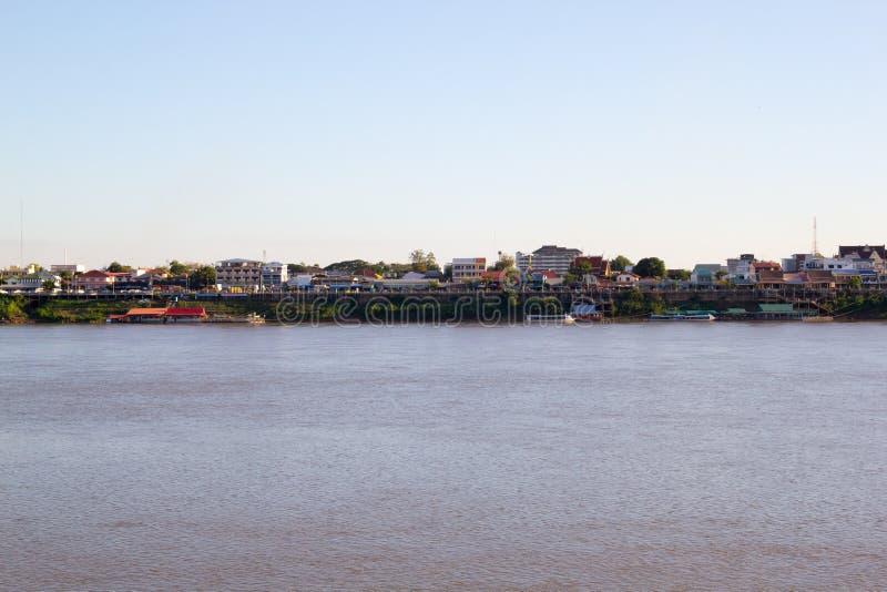 Mening van Mekong rivier royalty-vrije stock afbeeldingen