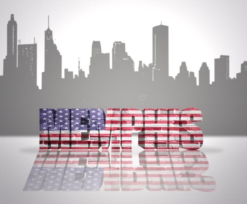 Mening van Memphis City vector illustratie