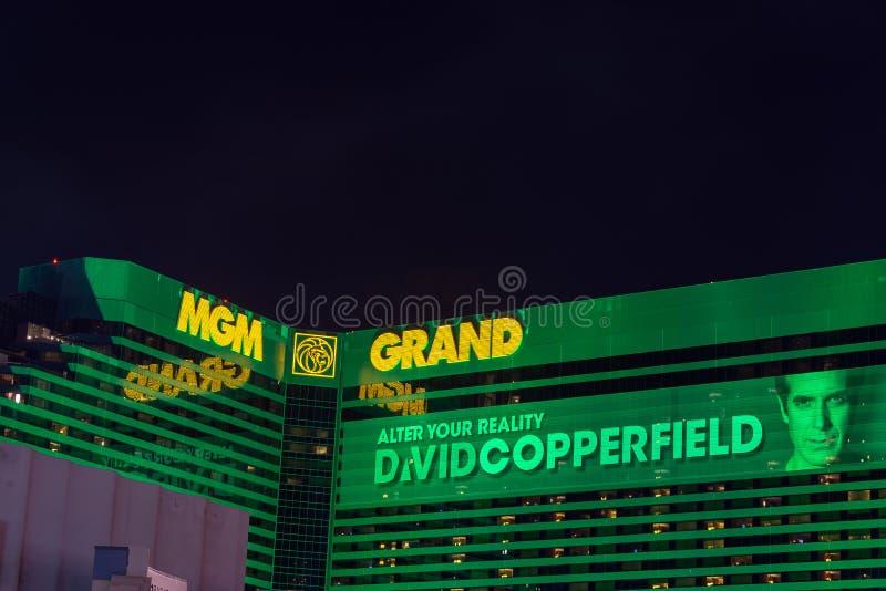 Mening van MGM-Grand royalty-vrije stock afbeeldingen