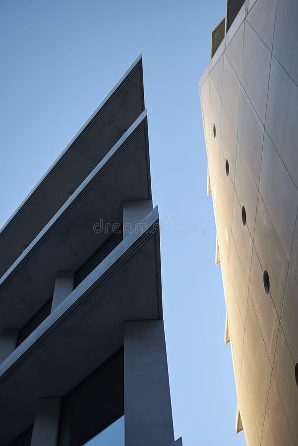 Mening van Microsoft en de gebouwen van Fondazione Feltrinelli stock foto's