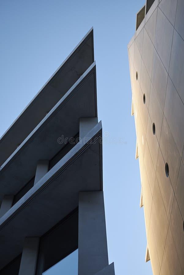 Mening van Microsoft en de gebouwen van Fondazione Feltrinelli stock foto