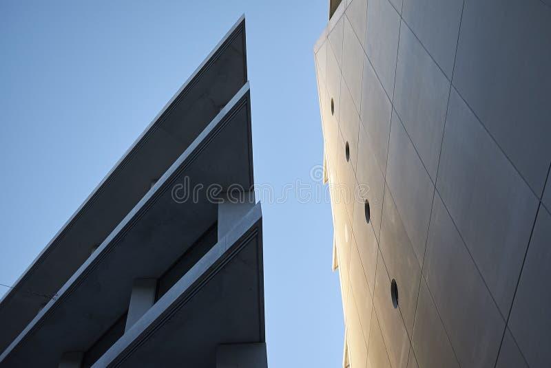 Mening van Microsoft en de gebouwen van Fondazione Feltrinelli royalty-vrije stock afbeelding