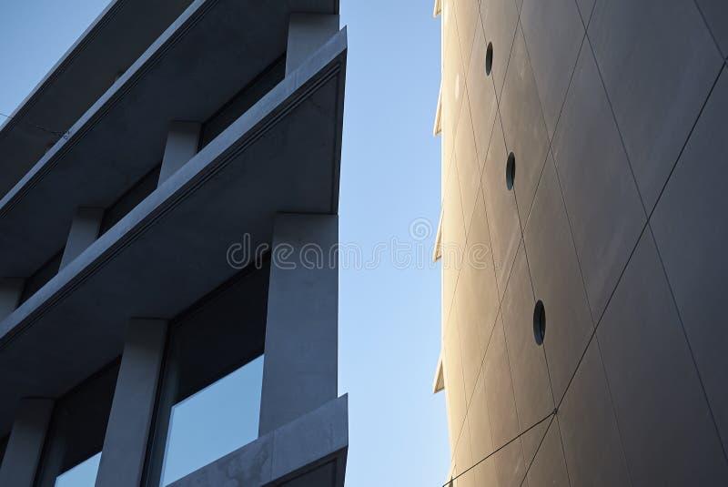 Mening van Microsoft en de gebouwen van Fondazione Feltrinelli royalty-vrije stock foto's