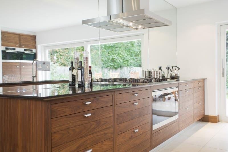Mening van Moderne Keuken stock foto