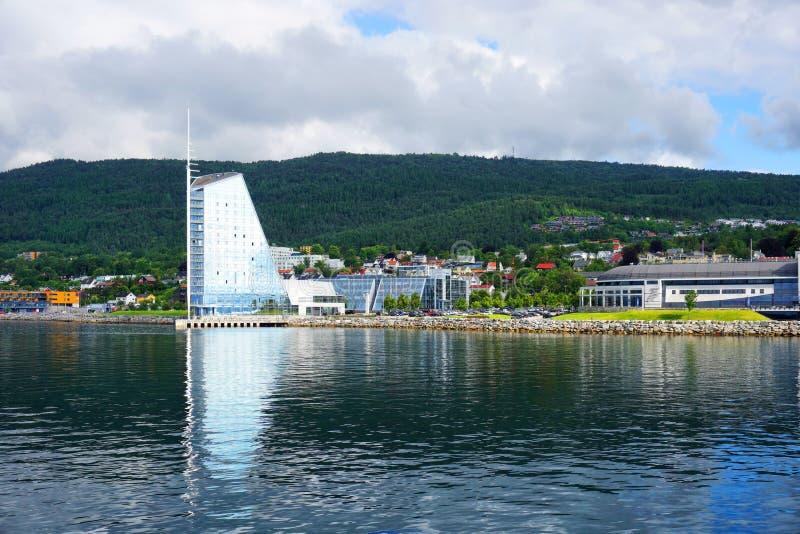 Mening van Molde, Noorwegen royalty-vrije stock foto