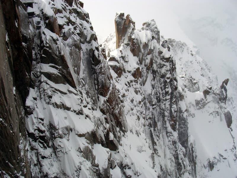Mening van Mont Blanc, Chamonix, Frankrijk royalty-vrije stock afbeelding