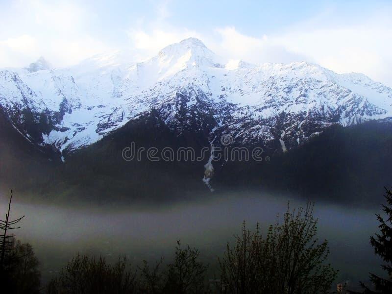 Mening van Mont Blanc, Chamonix, Frankrijk royalty-vrije stock fotografie