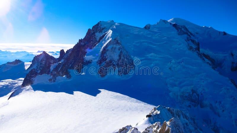 Mening van Mont Blanc, Frankrijk stock foto's