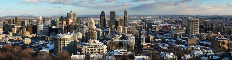 Mening van Montreal de stad in stock foto's