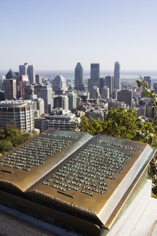 Mening van Montreal van Koninklijk Onderstel stock foto's