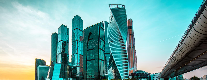 Mening van Moskou stad stock afbeelding