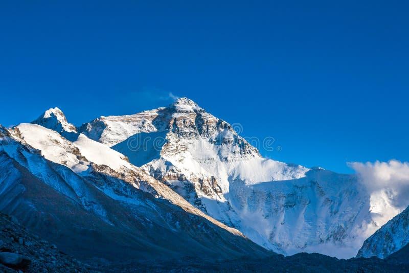 Mening van Mt. Chomolangma-middag royalty-vrije stock afbeelding
