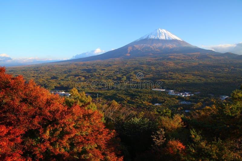 Mt. Fuji in de herfst royalty-vrije stock foto