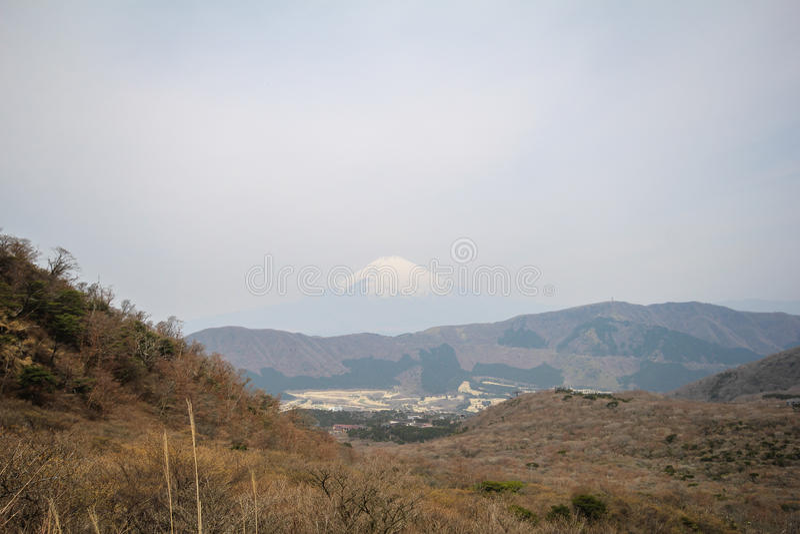 Mening van Mt Fuji van Hakone, Japan stock fotografie