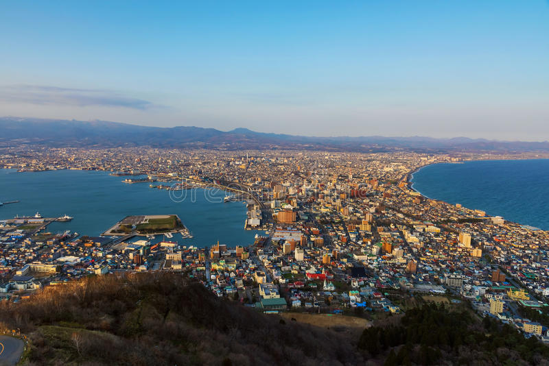 Mening van Mt Hakodate royalty-vrije stock foto