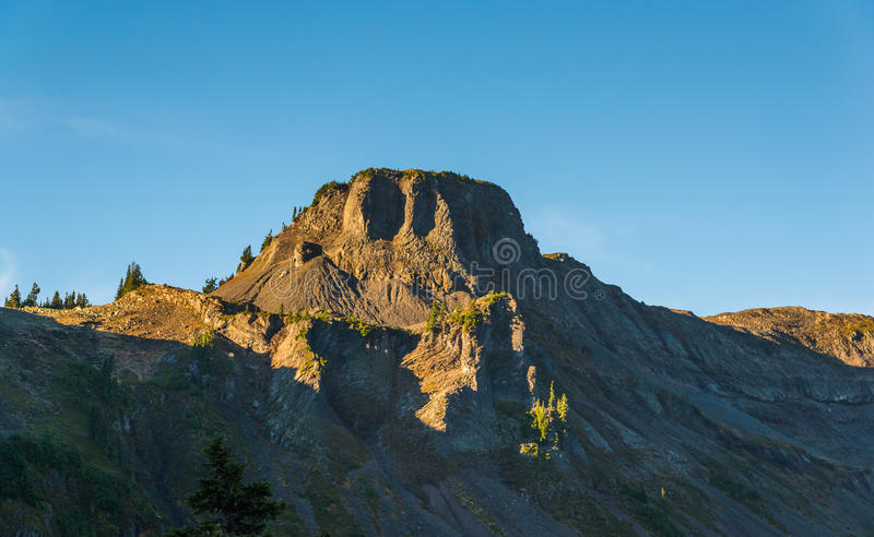 Mening van MT Shuksan, toneelmening in MT Baker Snoqualmie National, Washington, de V.S. royalty-vrije stock fotografie