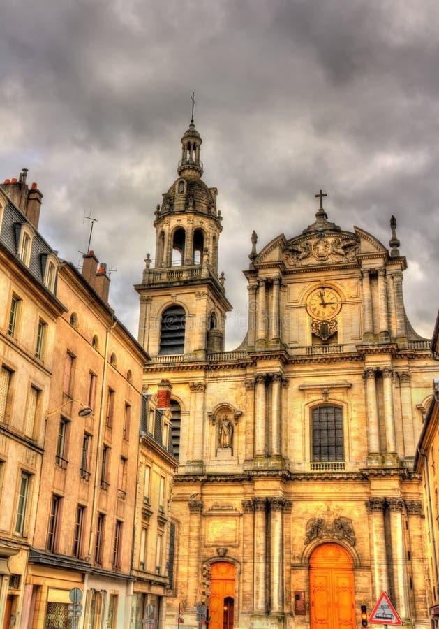 Mening van Nancy Cathedral - Frankrijk stock foto