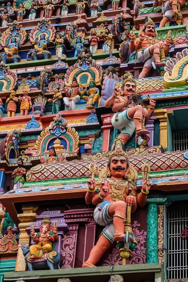 Mening van Nataraja-tempel, Chidambaram, India stock foto
