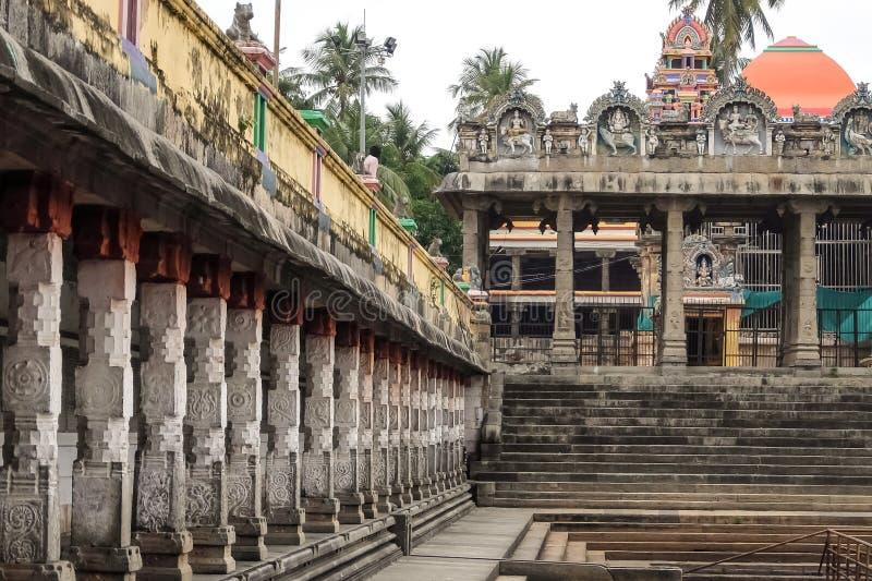Mening van Nataraja-tempel, Chidambaram, India royalty-vrije stock foto's