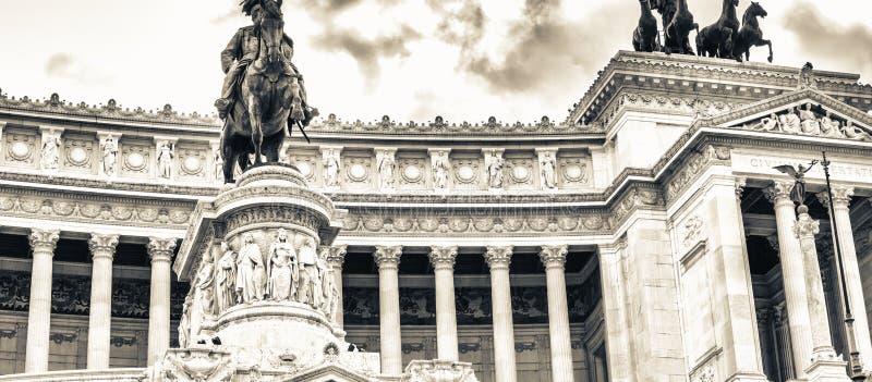 Mening van nationaal, monument Vittorio Emanuele II op stock afbeeldingen