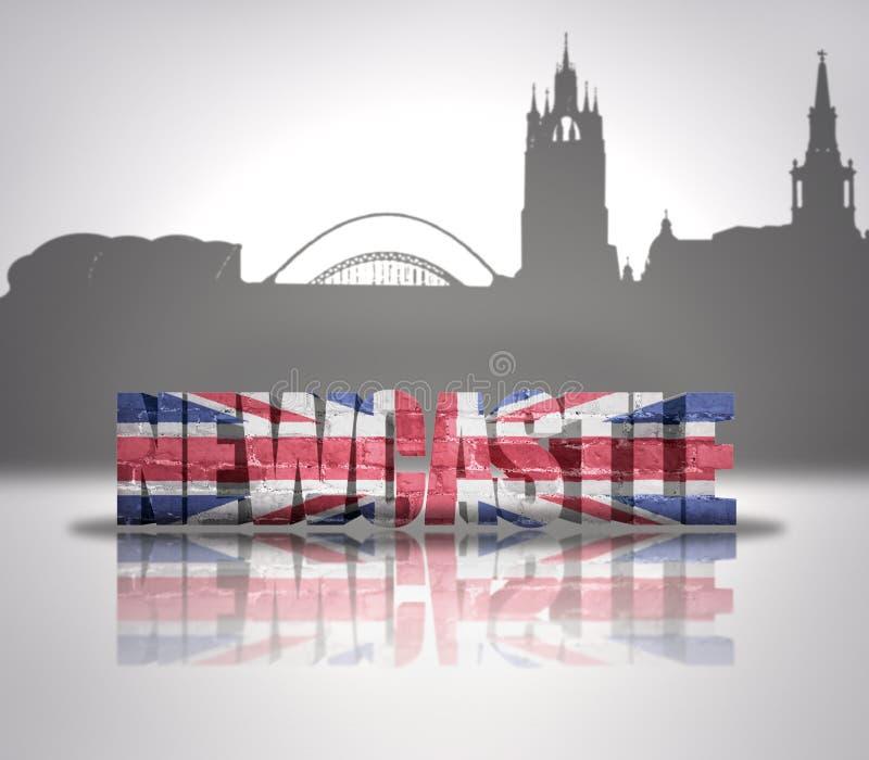 Mening van Newcastle royalty-vrije illustratie