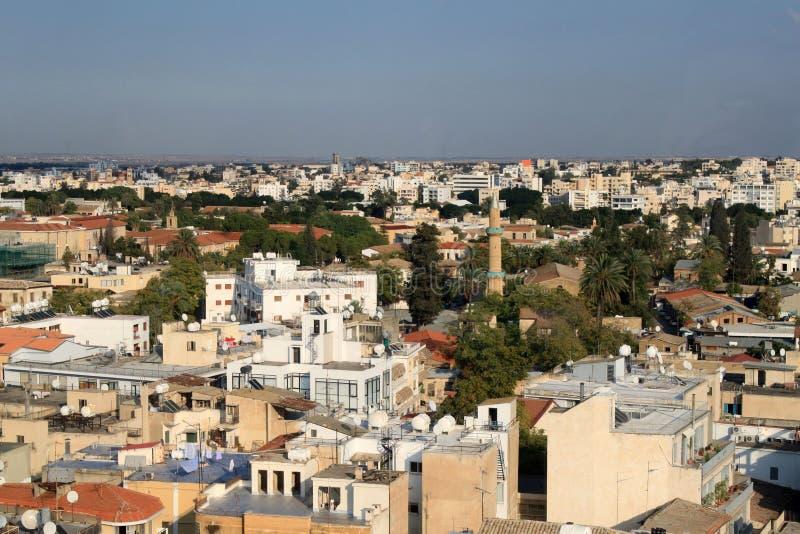 Mening van Nicosia royalty-vrije stock afbeeldingen