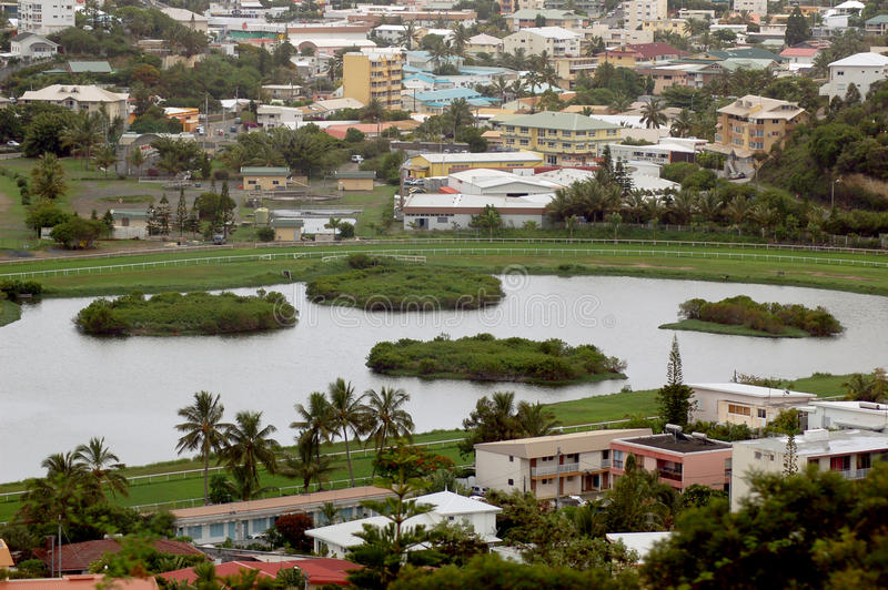 Mening van Noumea, Nieuw-Caledonië stock afbeeldingen