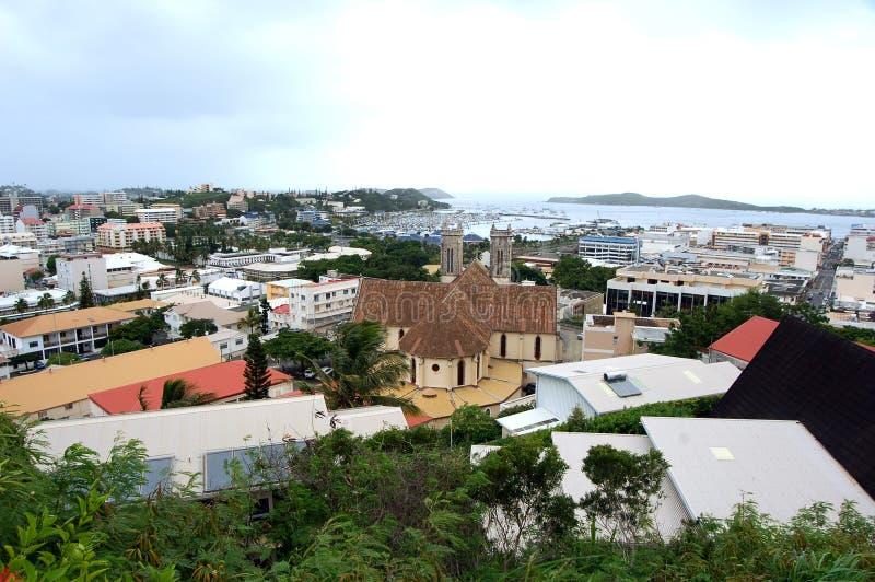 Mening van Noumea, Nieuw-Caledonië stock fotografie