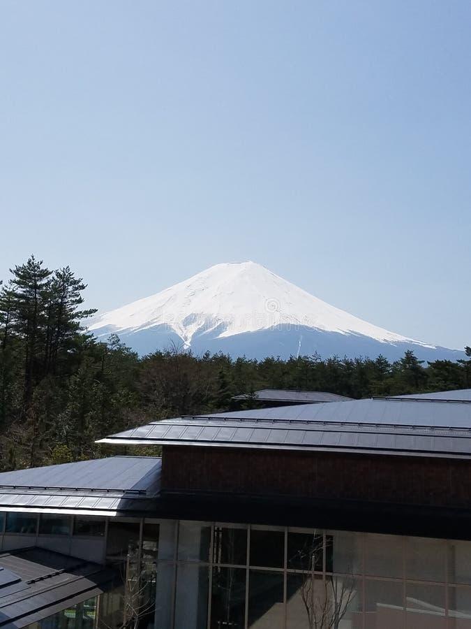Mening van Onderstel Fuji in Japan stock fotografie