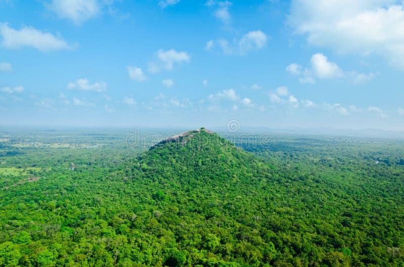 Mening van onderstel Sigiriya royalty-vrije stock afbeelding